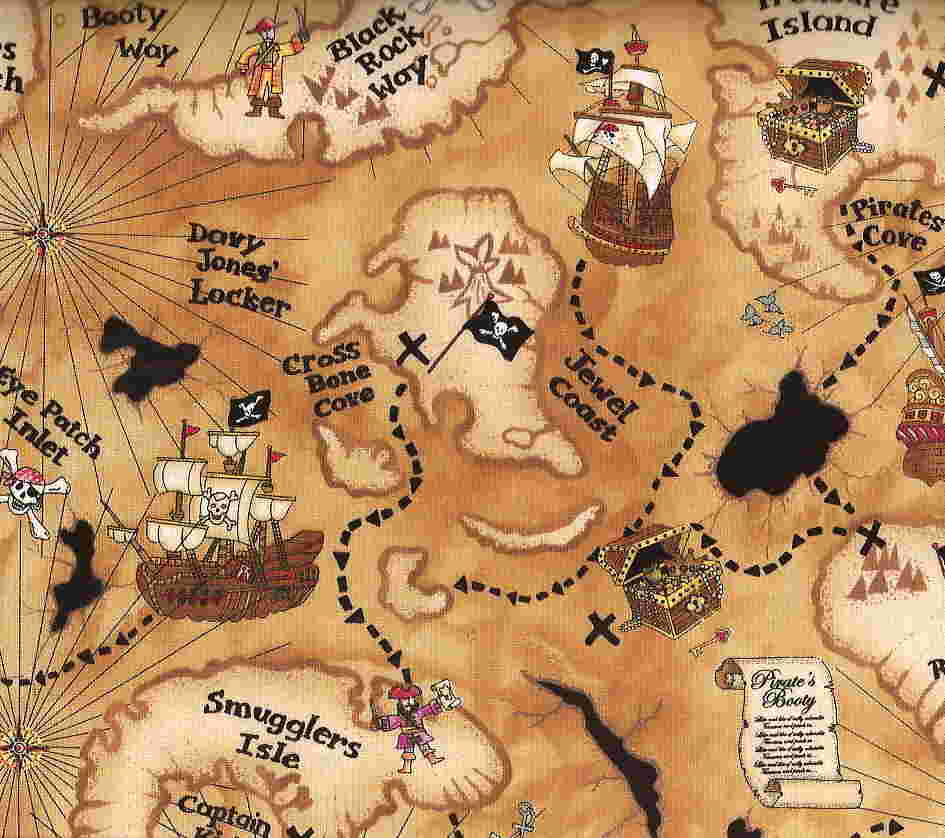 Fan image in printable treasure maps